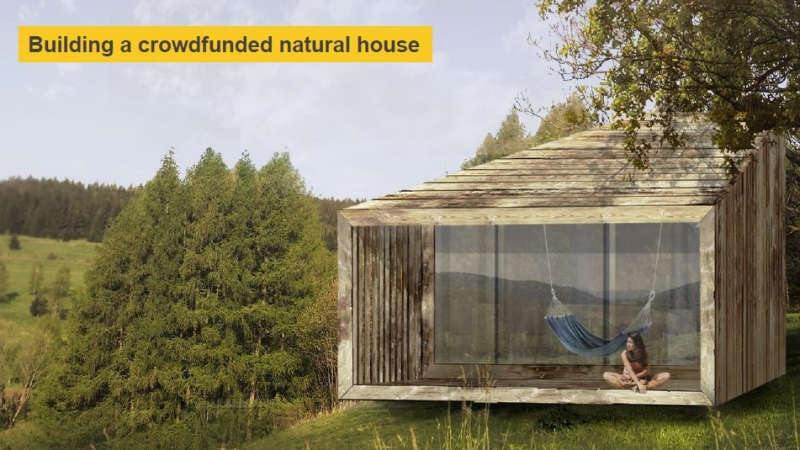 Crowdfunded strawbale house